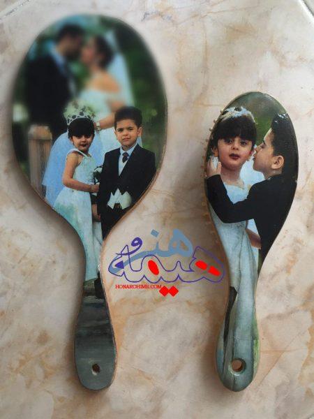 ست آینه دستی و برس نو عروس