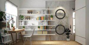 دکوری دیواری اتاق خواب با کتاب
