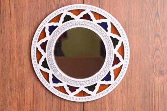 آینه سنتی برای دکوراسیون مکنزل عروس