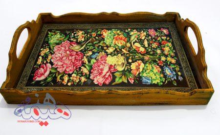 سینی سنتی طرح گل ومرغ
