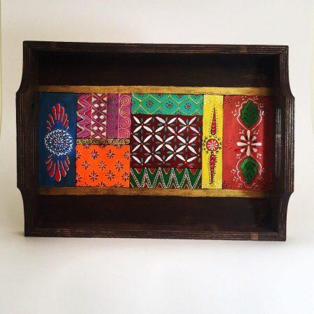 سینی چوبی طرح نقاشی