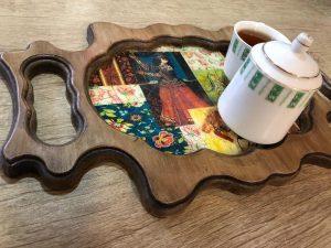 سینی چوبی سنتی زیبا